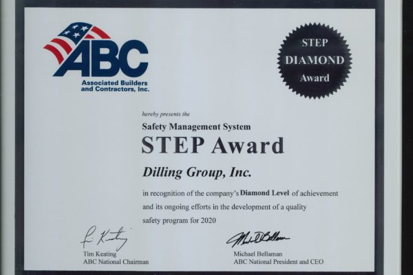 Dilling Group Inc 2020 ABC STEP Award